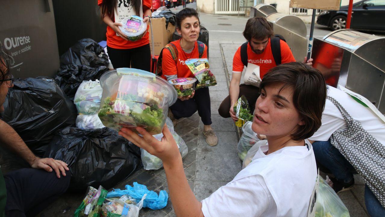 Alimentos recogidos en contenedores por Amigos da Terra y Sustinea