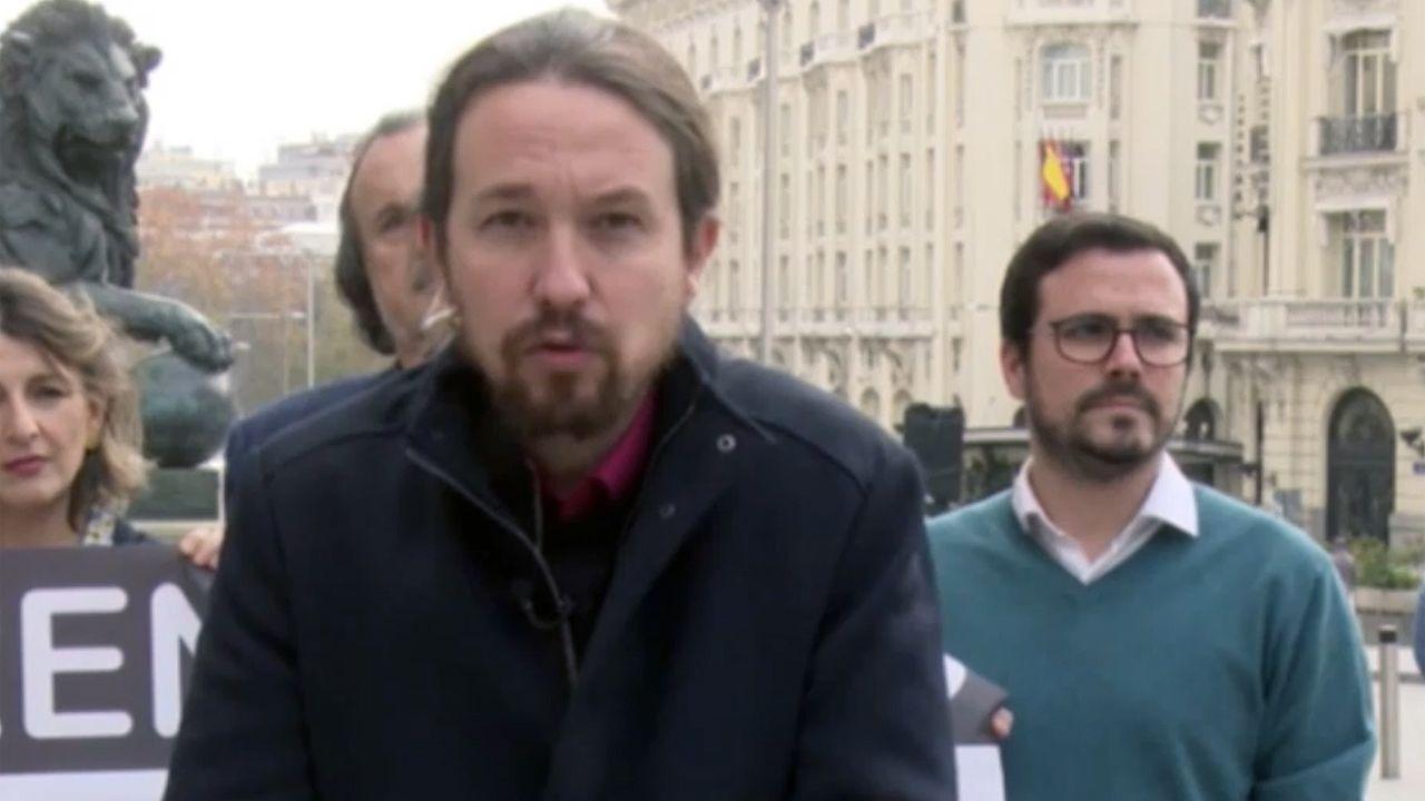 Errejón deja su escaño en el Congreso de los Diputados.Pablo Iglesias y Alberto Garzón
