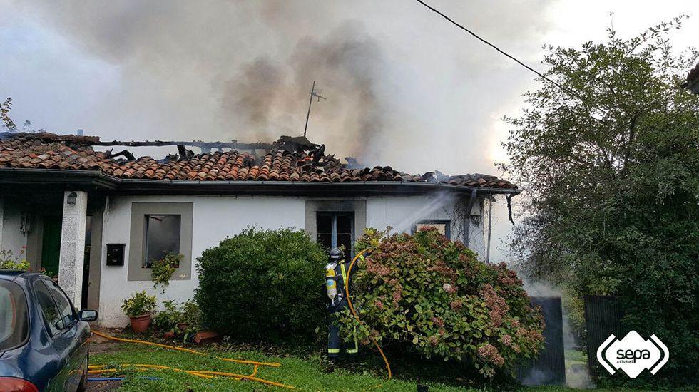 10 anuncios rodados en Asturias.Incendio en Villaviciosa