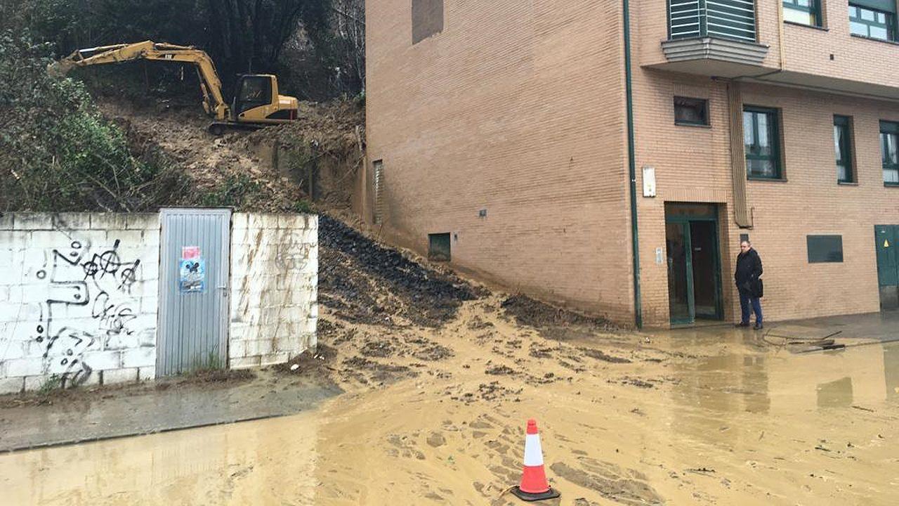 Las inundaciones de Oñón en imágenes.Soterramiento del ferrocarril en Sama de Langreo