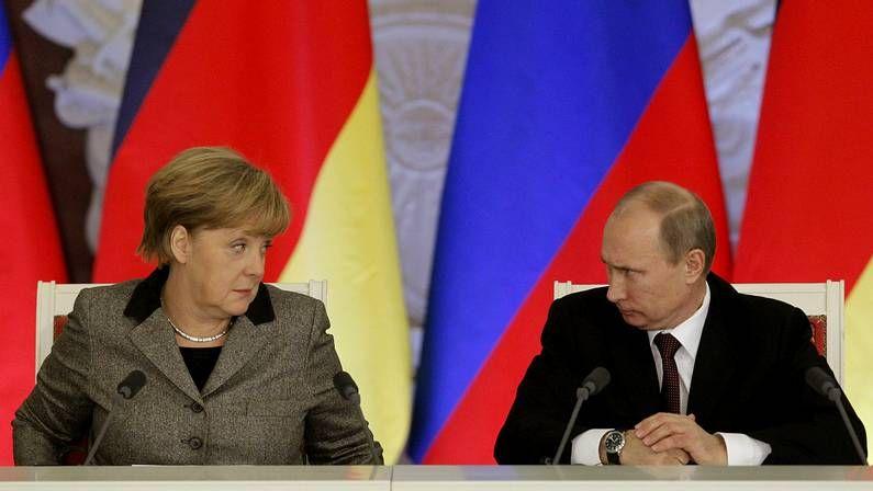 .Merkel y Putin, en noviembre del 2012