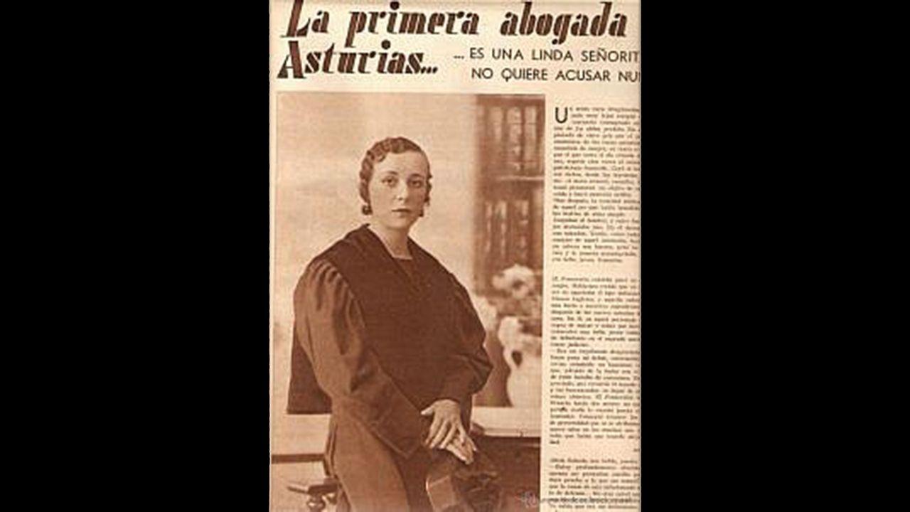 Alicia García-Salcedo, la primera abogada de Asturias