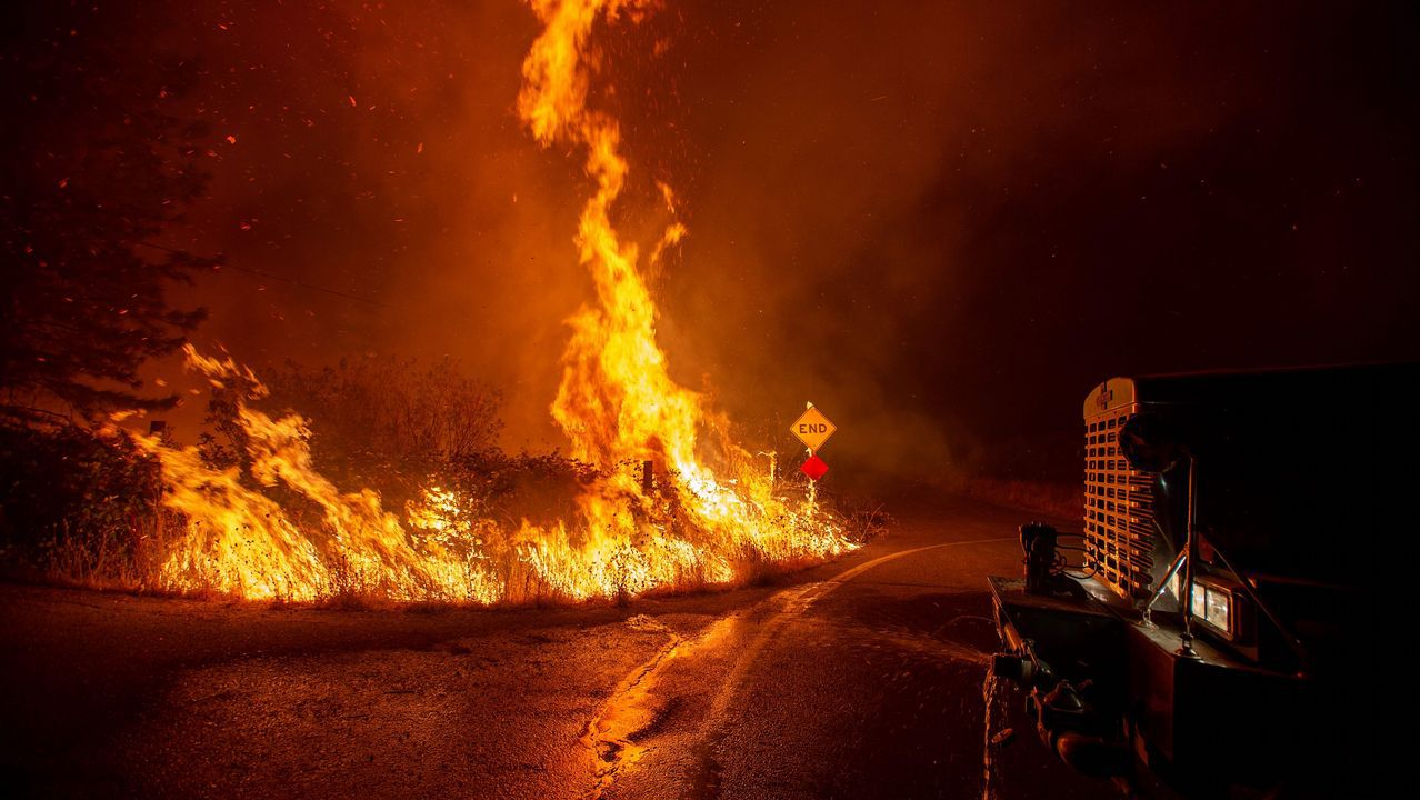 Un gran incendio asola estos días California.