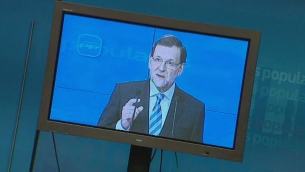 ¿Otra vez Rajoy en plasma?.