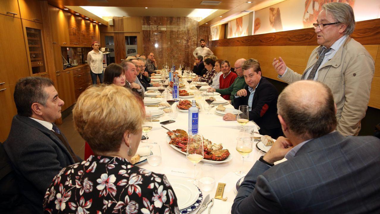 De cena en Laxe con la Gran Orden Gastronómica Costa da Morte: ¡las fotos!
