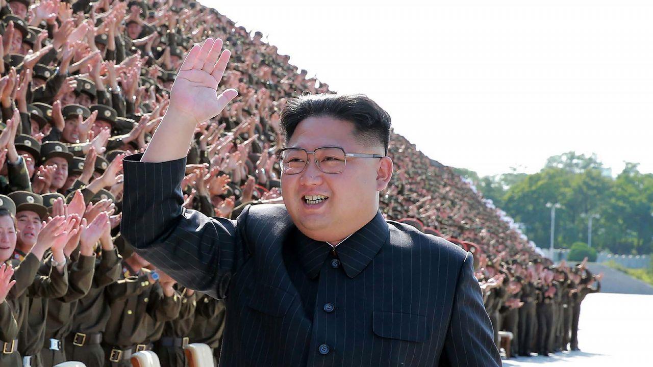 Huawei.El líder norcoreano Kim Jong-Un, en un acto militar en Pyongyang