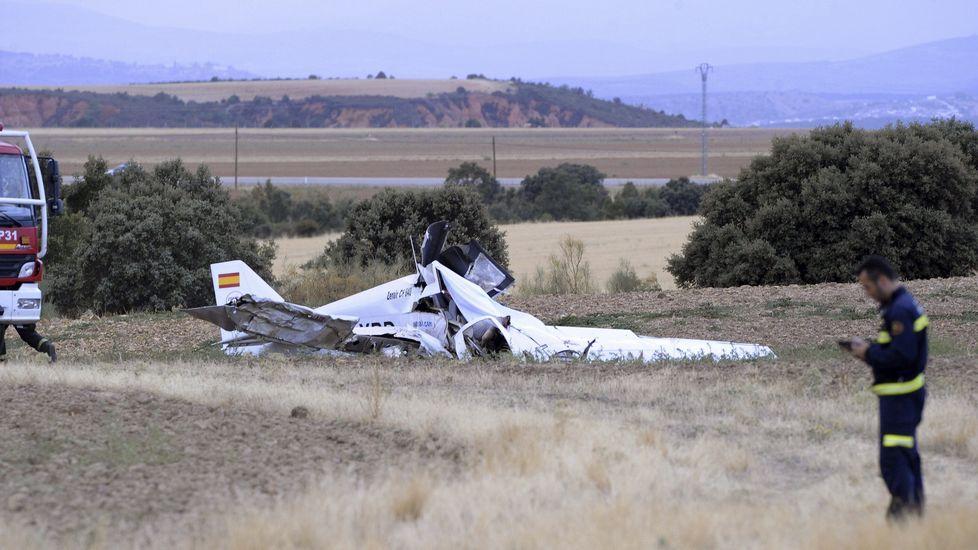 Imagen de la avioneta en la que han fallecido tres personas este miércoles en Guadalajara