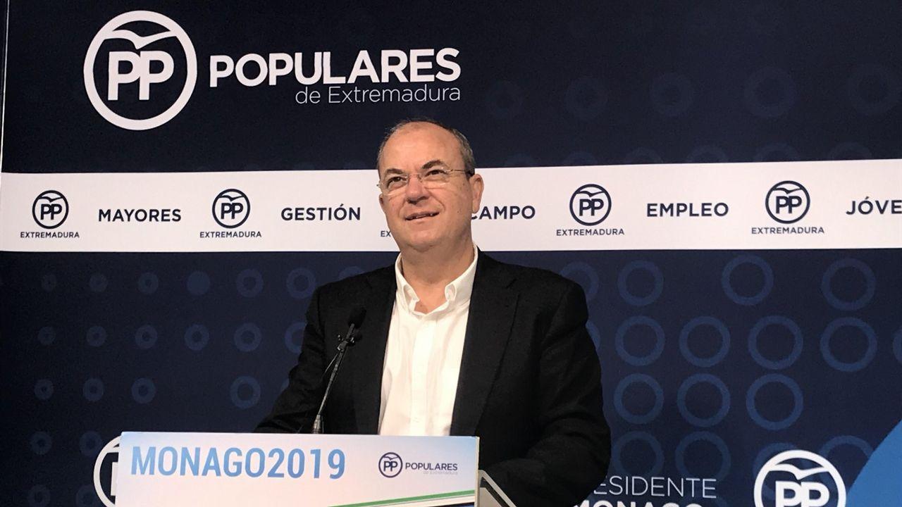 PP, Ciudadanos y Vox, juntos enuna manifestación este domingo en Madrid.El presidente del PP de Extremadura, José Antonio Monago