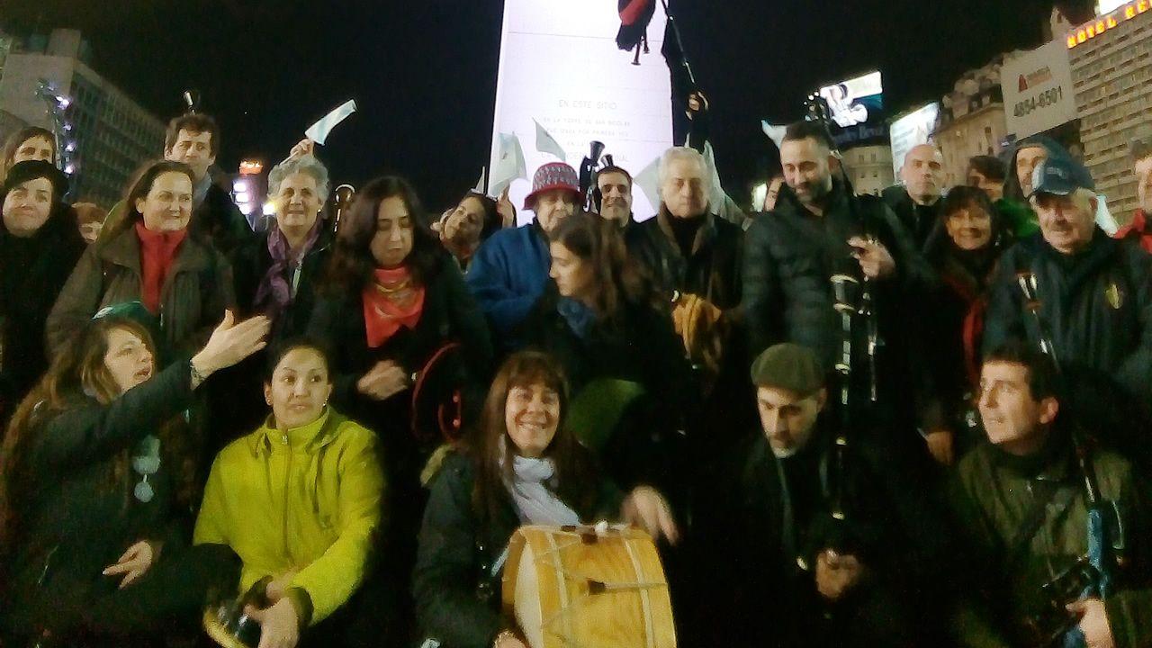 Imagen de archivo de una fiesta en el centro