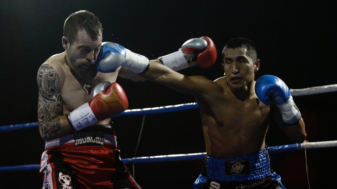 Las mejores imágenes del Rali de A Coruña.Boxeo. Combate Moncho Mirás-Juan Hinostroza