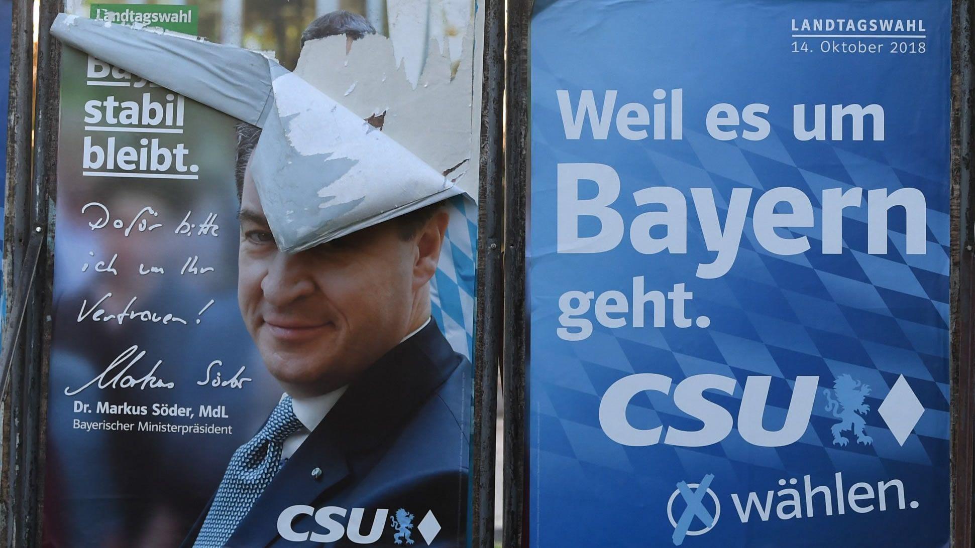 El cartel caído del candidato de la CSU prefigura el retroceso que le espera el domingo