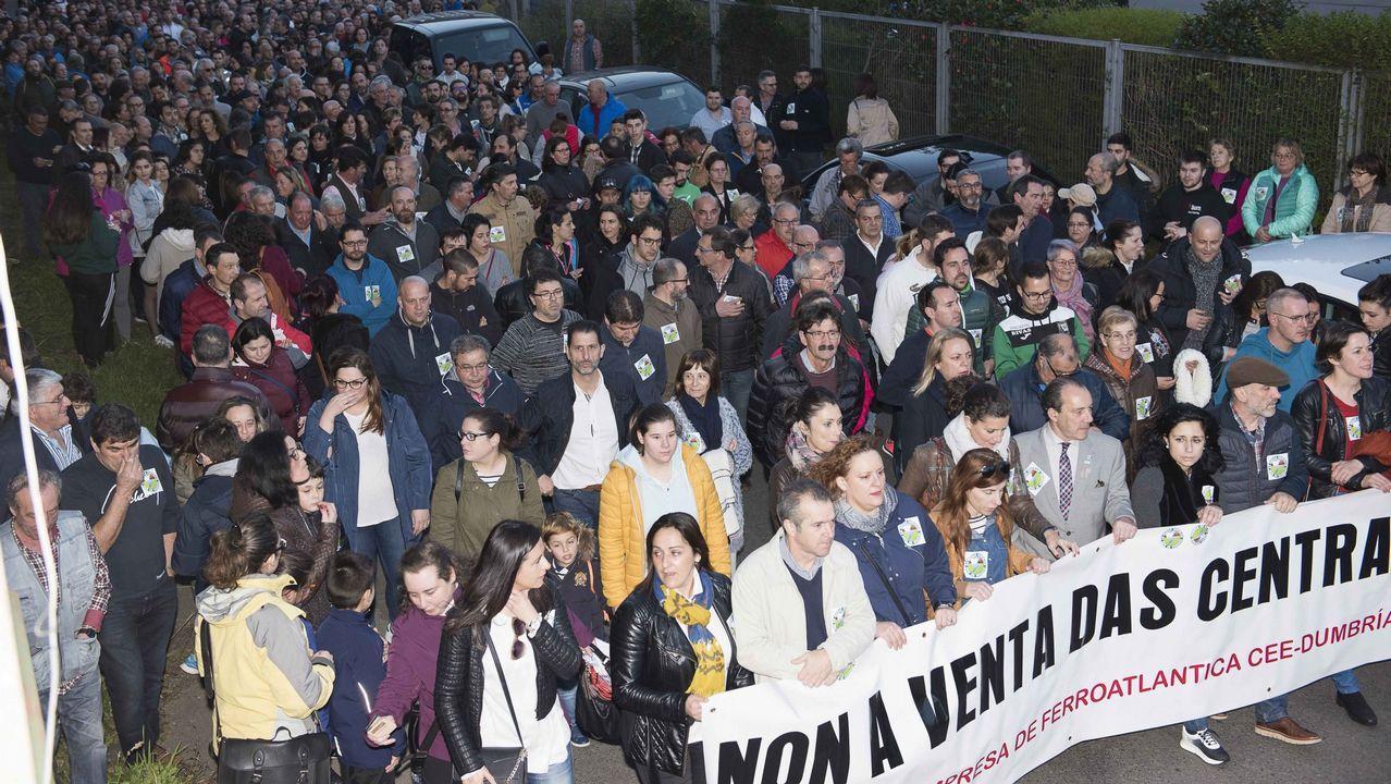 La protesta contra el cierre de Alcoa, en imágenes