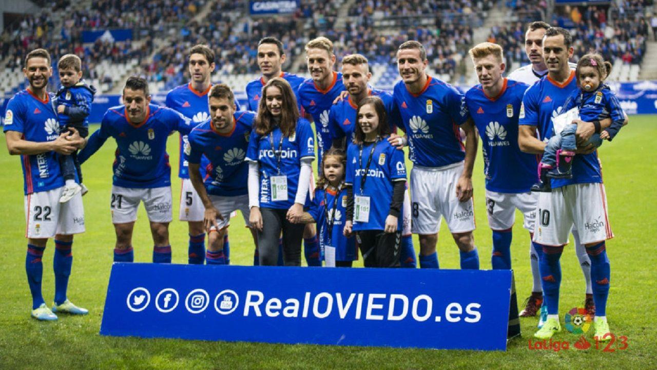 Alineación del Real Oviedo ante el Numancia