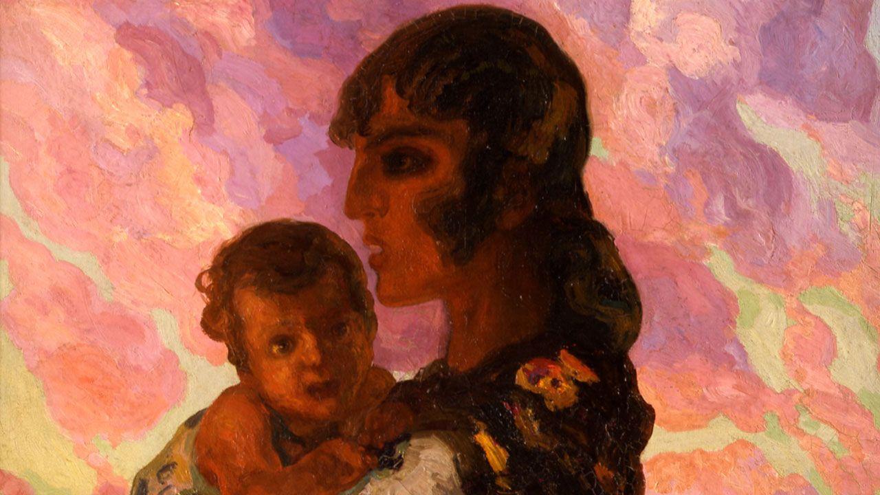 Hermén Anglada-Camarasa. Detalle de «Maternidad gitana de perfil» (hacia 1913)