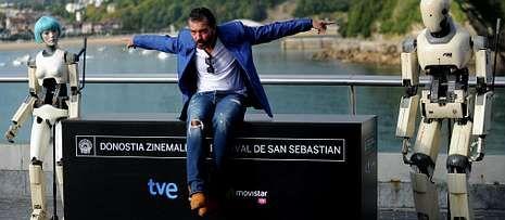 Los principales nominados a los Goya.Antonio Banderas presentó ayer «Autómata» en el festival de Donosti.