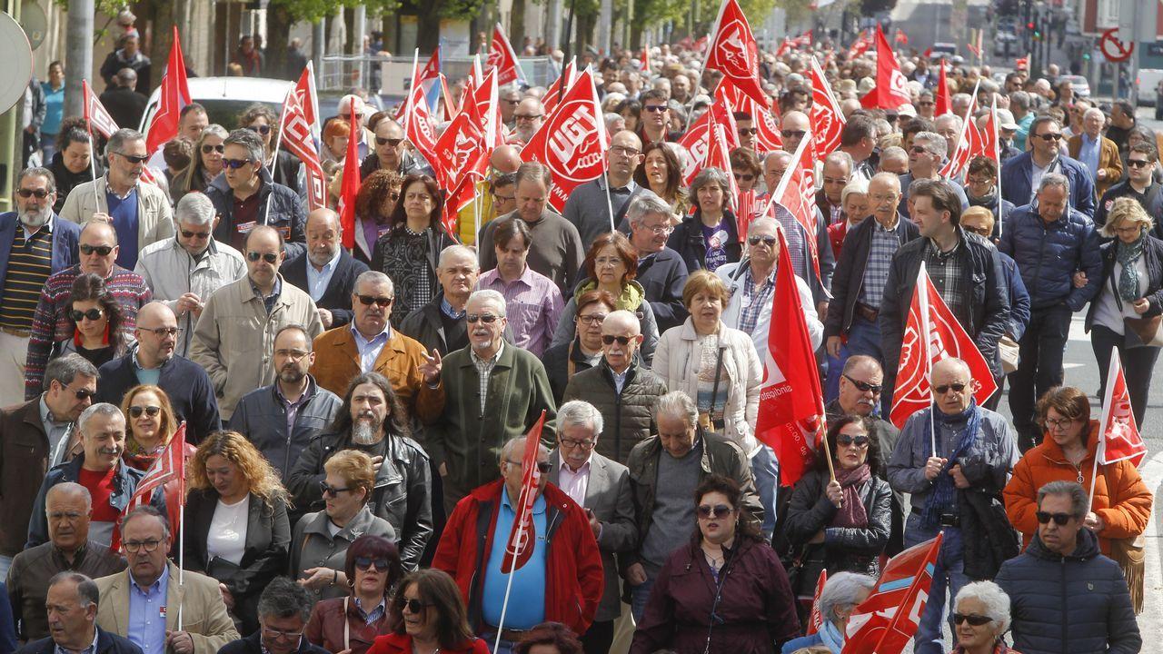 1 de mayo en las calles de A Coruña.Manifestación de CSI, SUATEA, CNY y CGT, por el Primero de Mayo, en Gijón