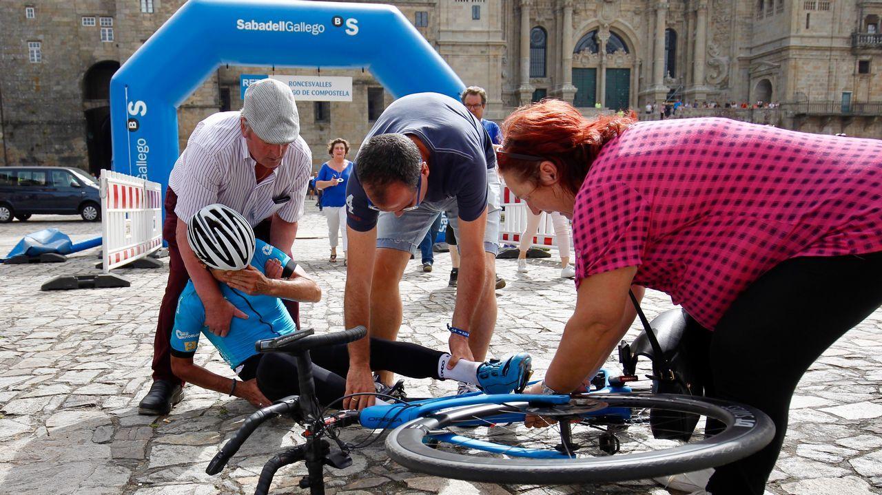 .El ciclista vasco Mikel Azparren