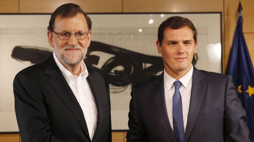 Carmen Rodríguez Maniega, presidenta del PP Avilés.Segunda reunión del verano entre Rajoy y Rivera