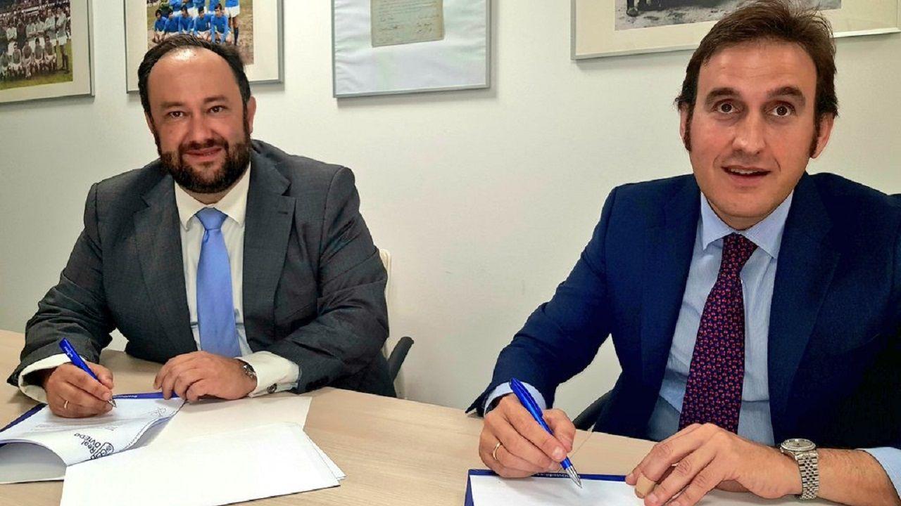 Jorge Menéndez Vallina y José Antonio Vázquez Blanco