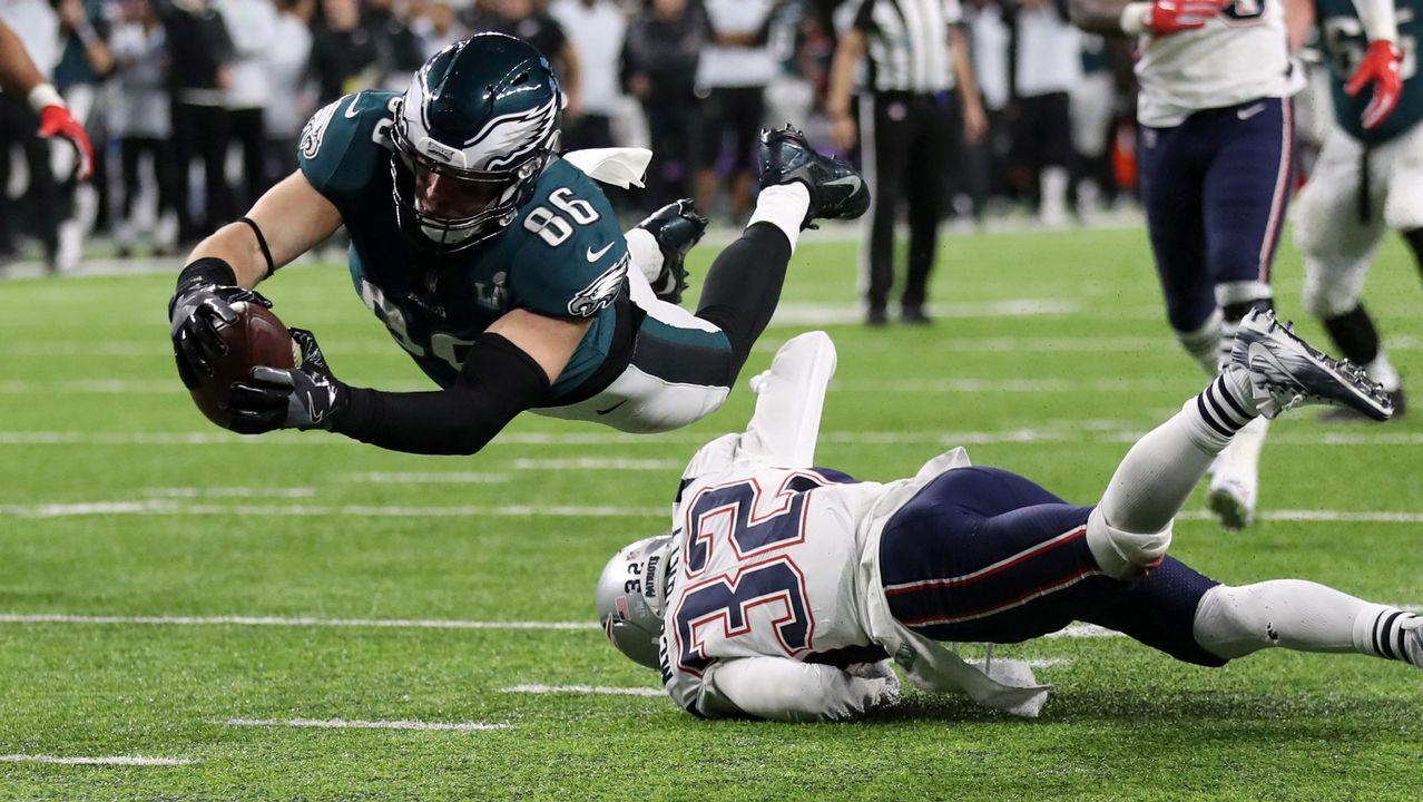 Brutal saqueo a una tienda durante los festejos de la Super Bowl.Un touchdown de Zach Ertz, de los Philadelphia Eagles
