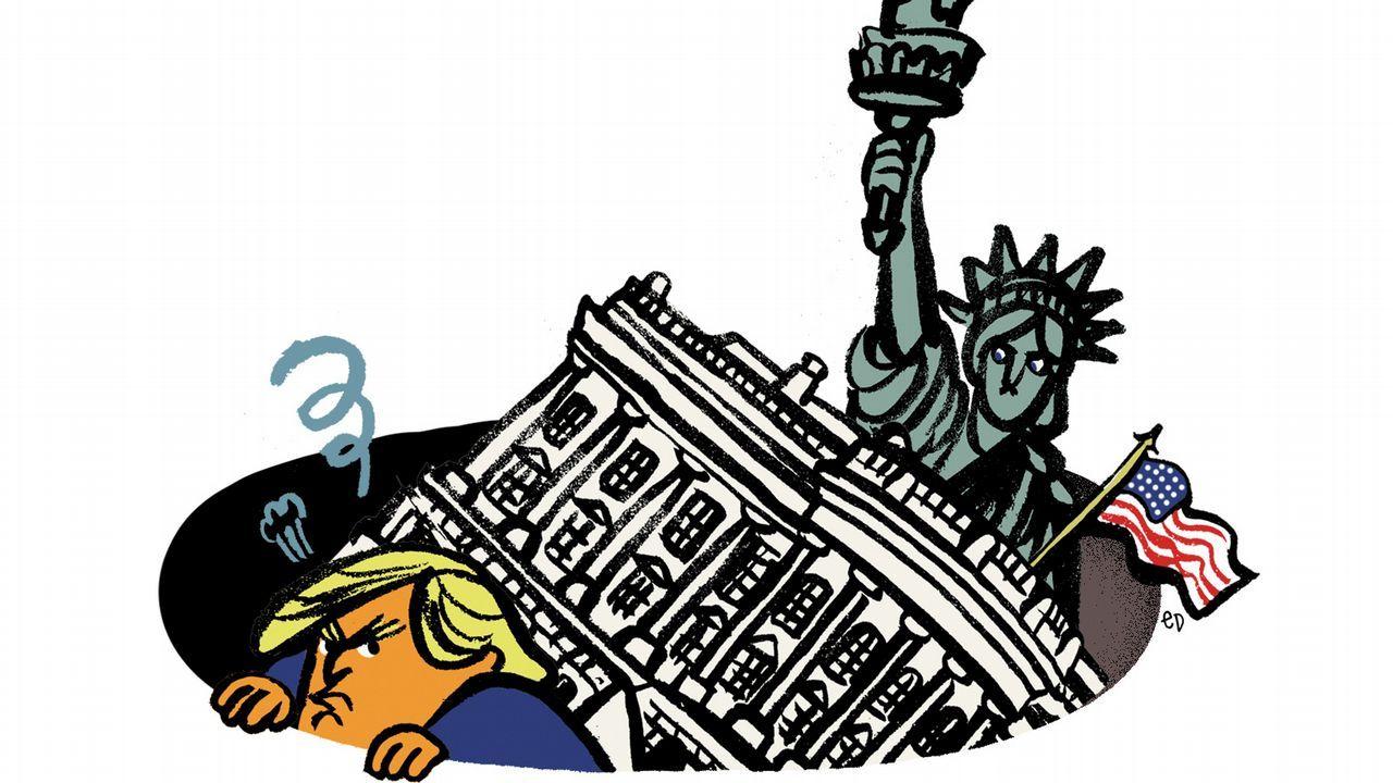 La pregunta de un niño hace llorar a la secretaria de prensa de Trump.Michael Sandel