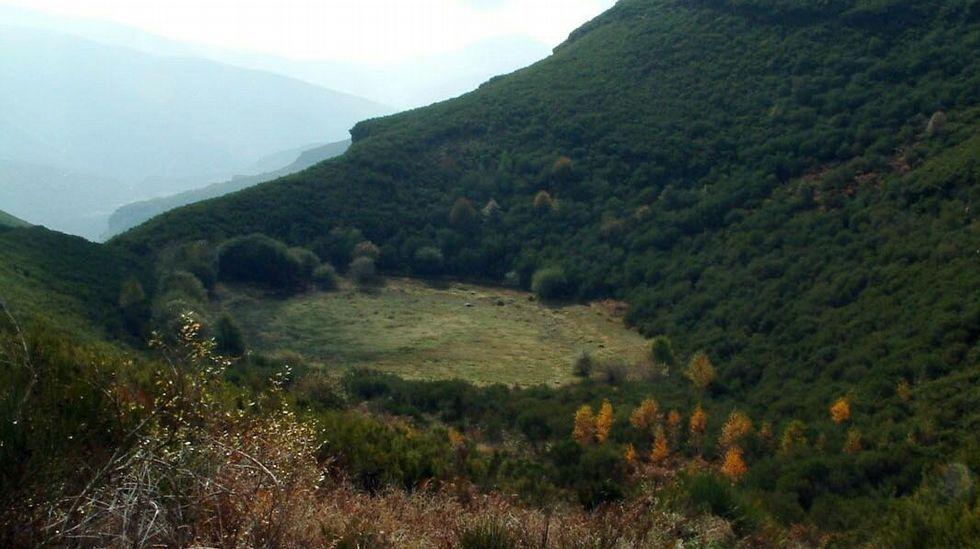 La laguna de Lucenza totalmente seca en una época de estiaje. Imagen de archivo del 2003