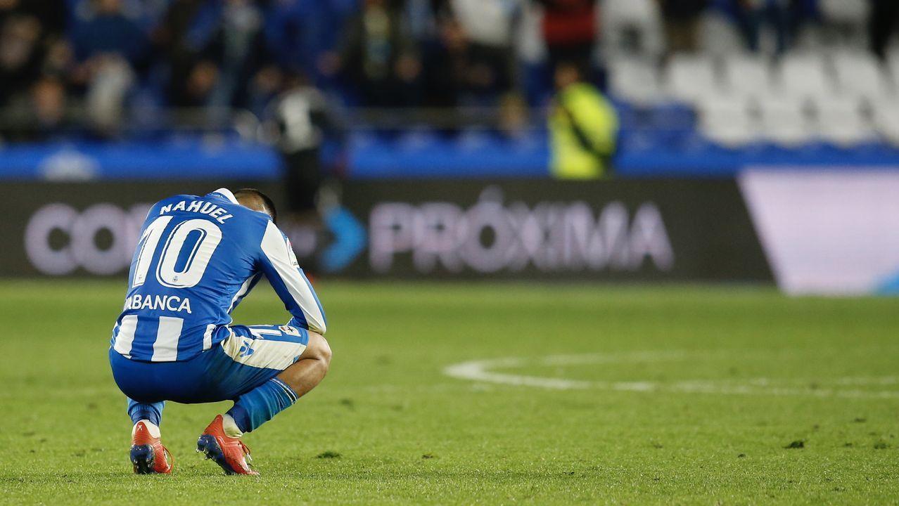 Las mejores imágenes del Deportivo - Alcorcón.Richard Boateng tras ser cambiado en el Zaragoza-Alcorcón