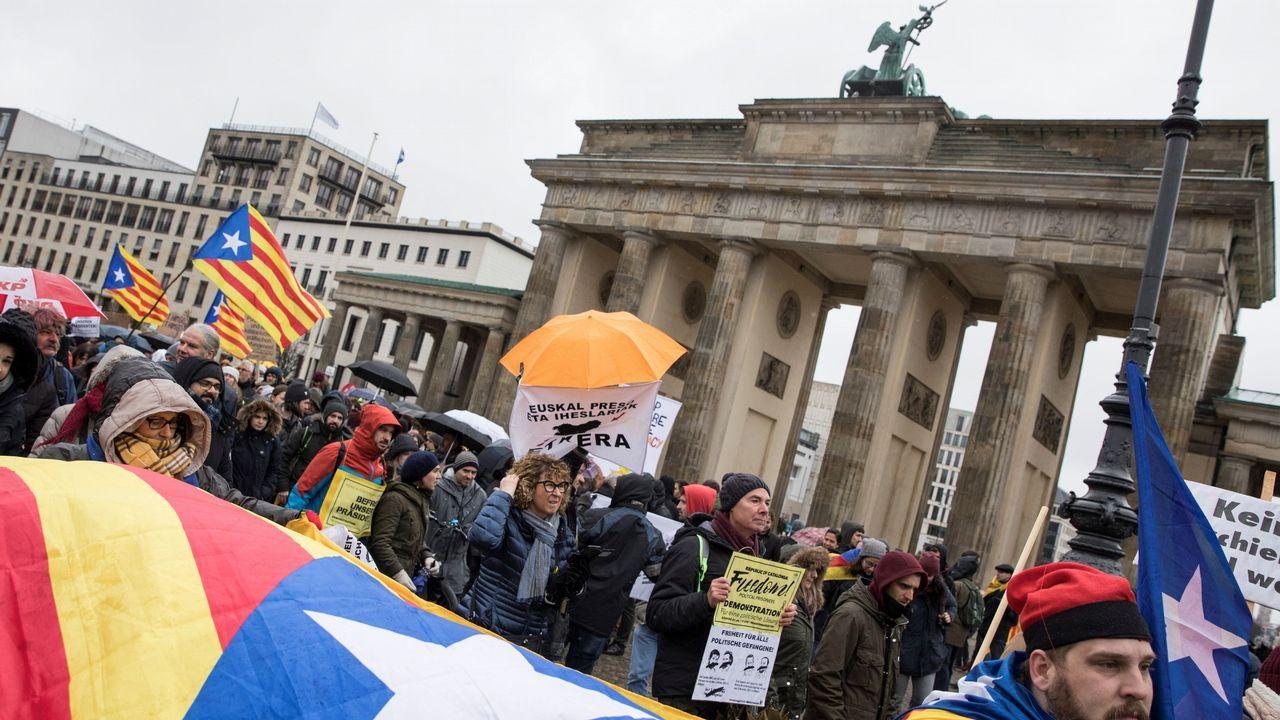 .Manifestación en Berlín por la libertad de Puigdemont