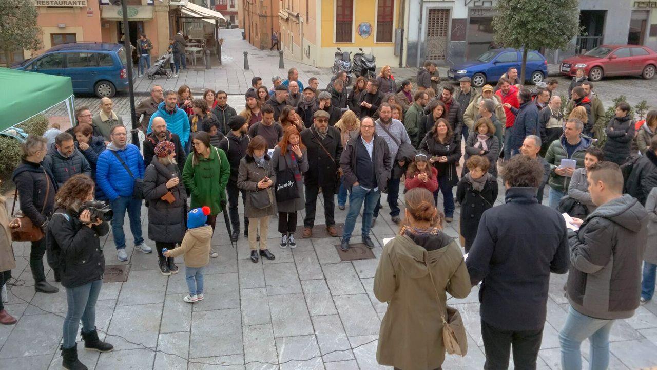 Reunión fundacional de la Academia del Cine Asturiano.Marián Osácar, directora de Feten