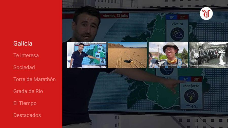 aplicación de La Voz de Galicia en el deco 4K de R