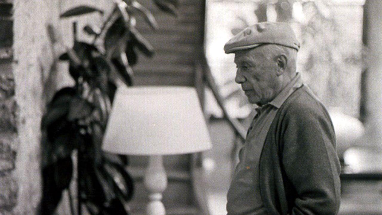 Antonio Cores Uría. «Picasso en la planta baja del taller Madoura» (fragmento) (1966)