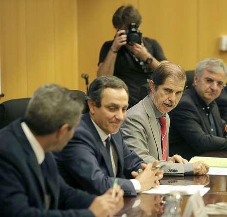 Francisco Marín en la clausura ayer el proyecto Carisma.