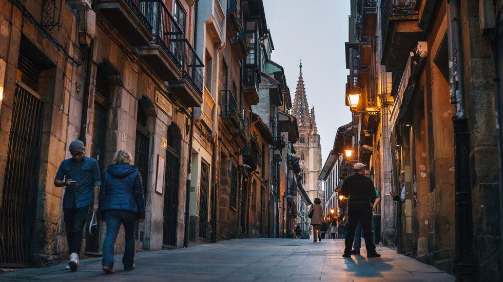 Calle Mon, en Oviedo