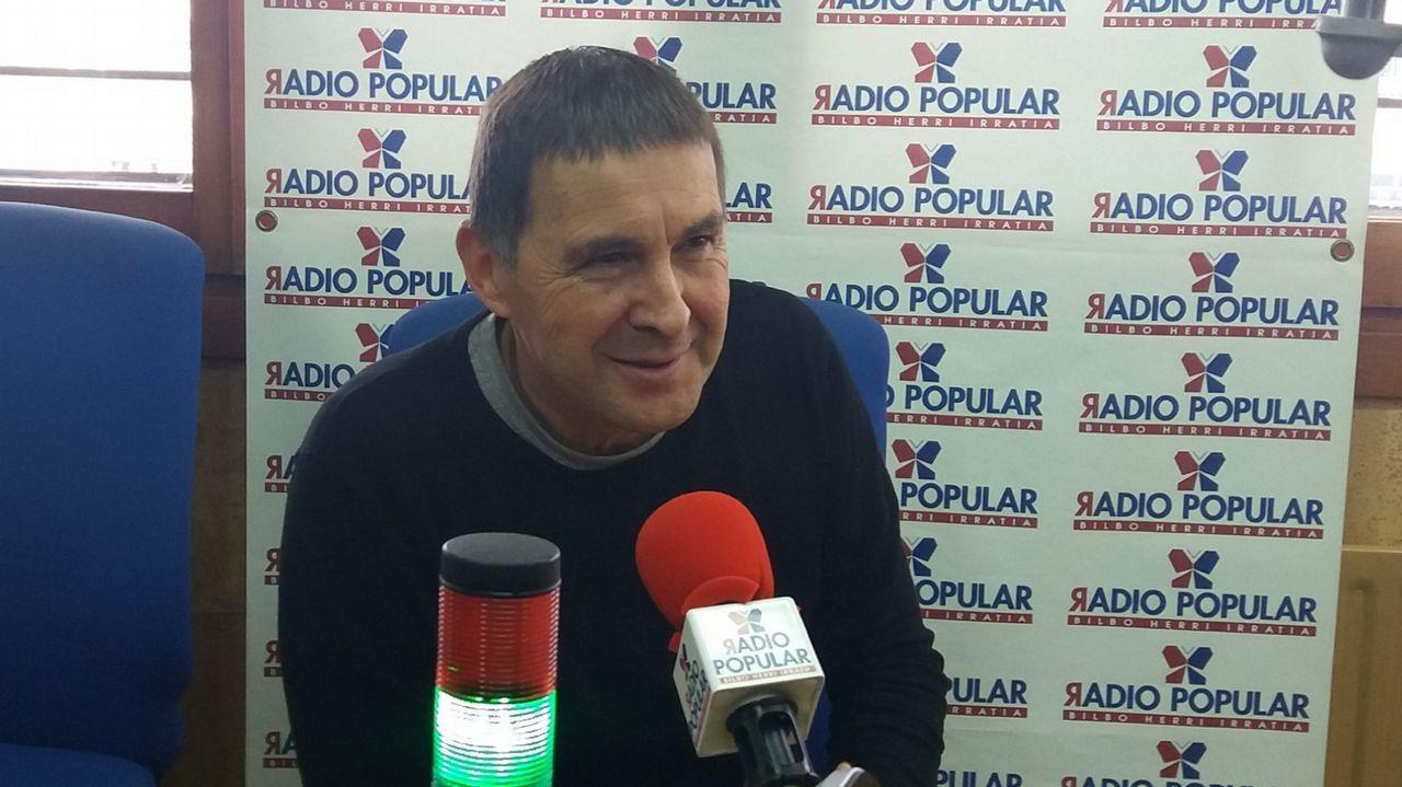 José María Múgica: «Otegi encarna exactamente aquello que tenemos que combatir».Arnaldo Otegi, en una imagen de archivo