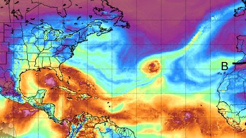 Un sistema de bajas presiones inyectó humedad subtropical en el Mediterráneo a través del Estrecho de Gibraltar