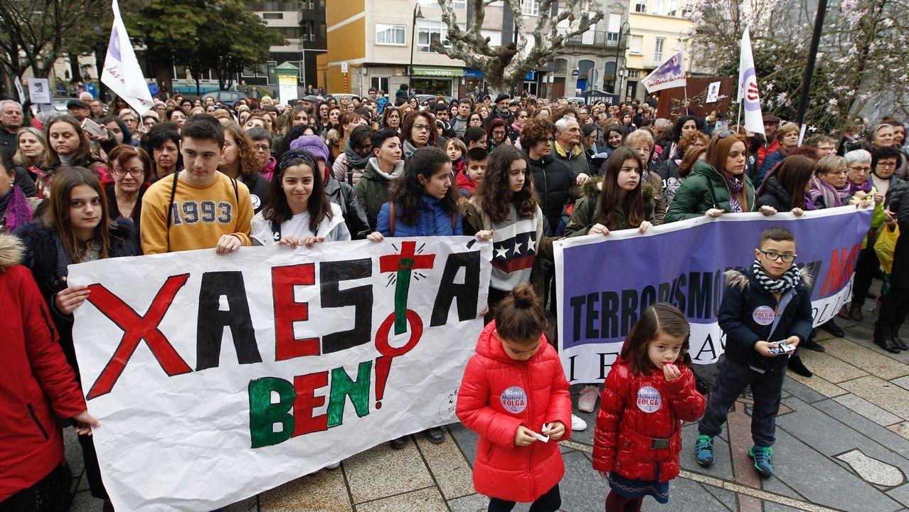 Multitudinaria manifestación en Vigo