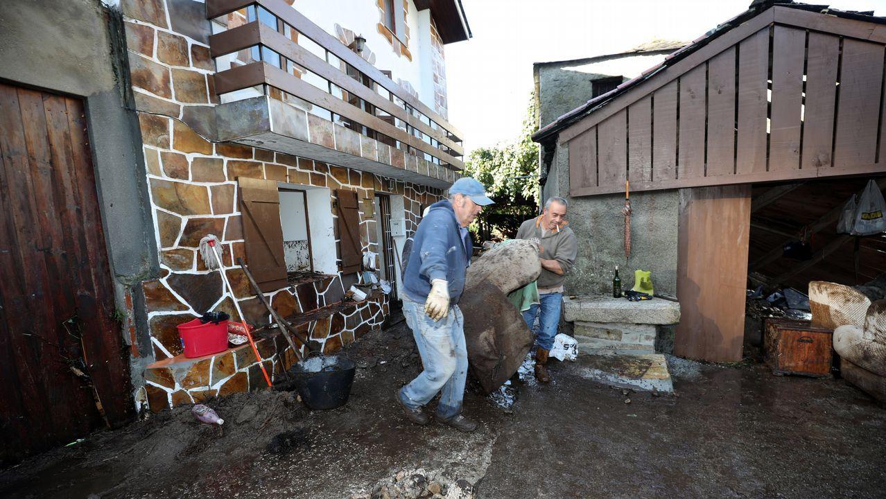 Los daños causados por la tromba de agua en Viveiro