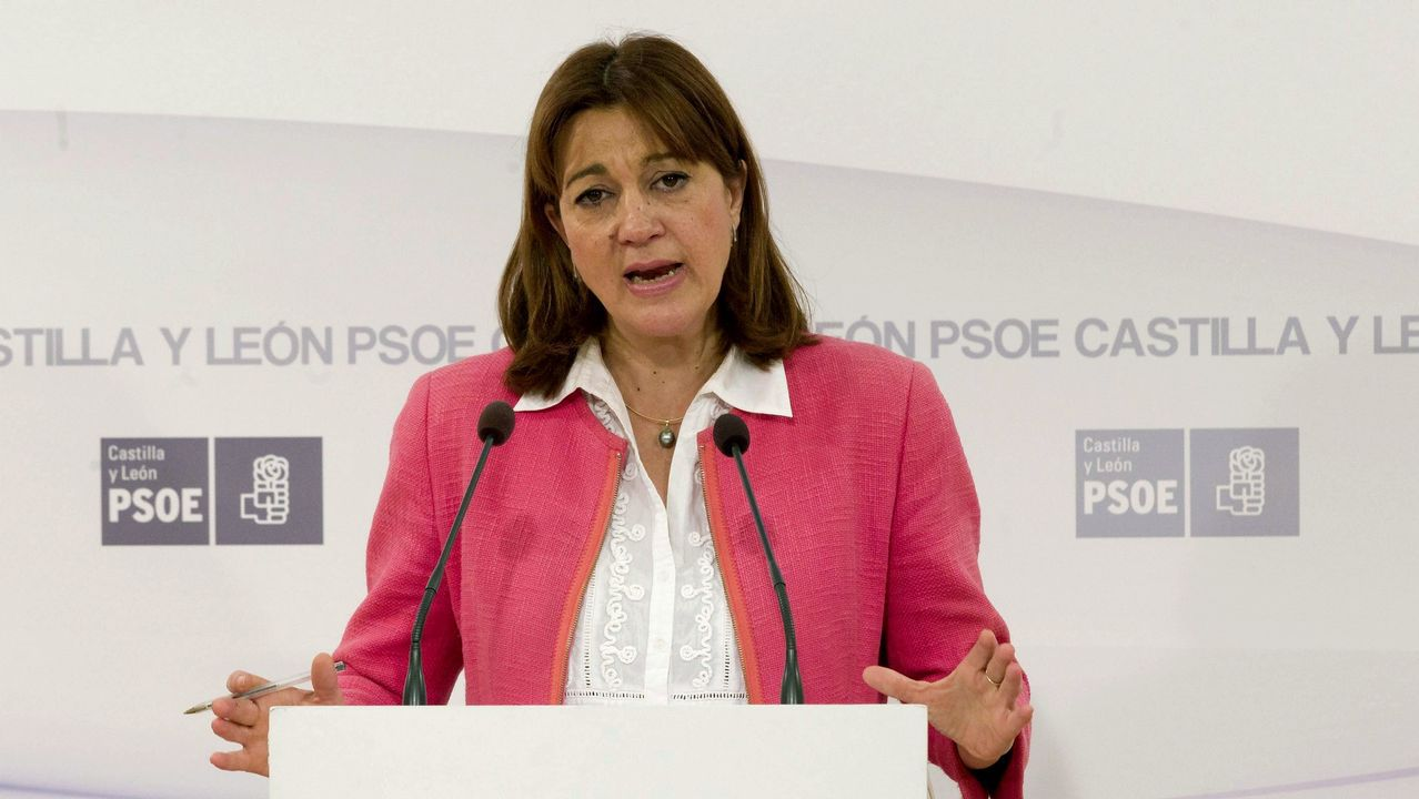 Torra retira la pancarta de la Generalitat.Imagen de archivo de la exportavoz del grupo socialista en el Congreso de los Diputados Soraya Rodríguez