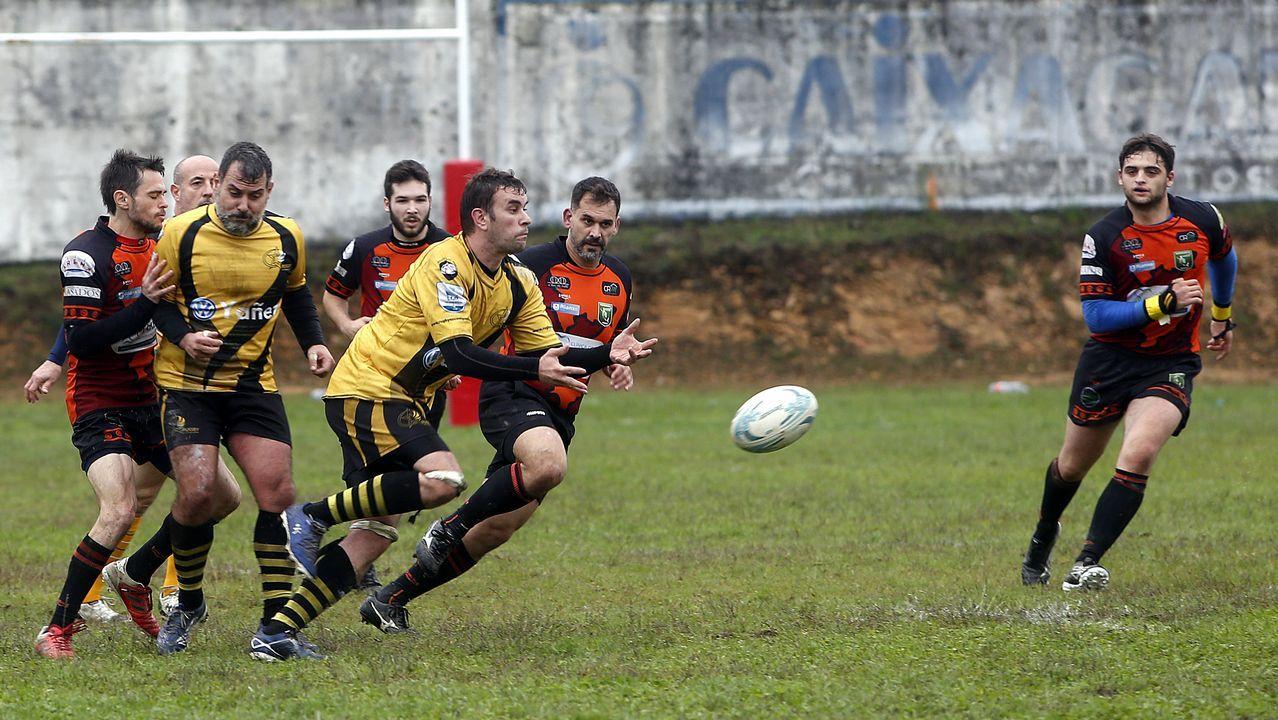 Partido de rugbi entre el Barbanza y el Compostela RC