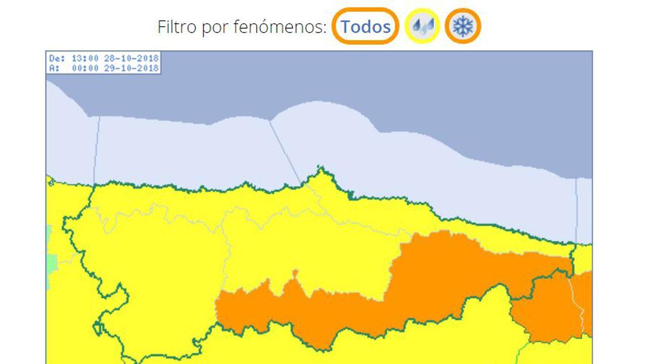 ¿Qué tiempo hará este puente?.Aemet eleva la alerta por temporal en Asturias