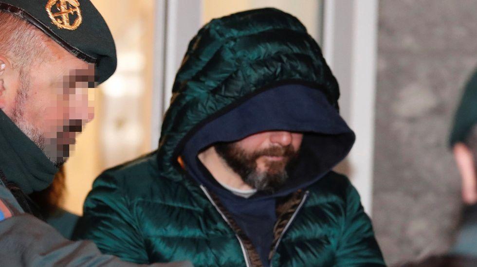 Pedro Nieva, a su salida de los juzgados de Llanes