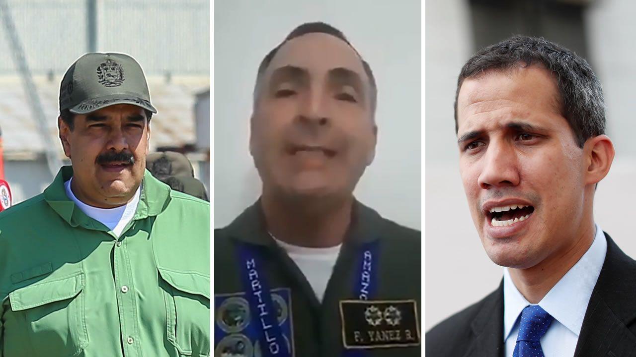 Nicolás Maduro, el general Yáñez y Juan Guaidó