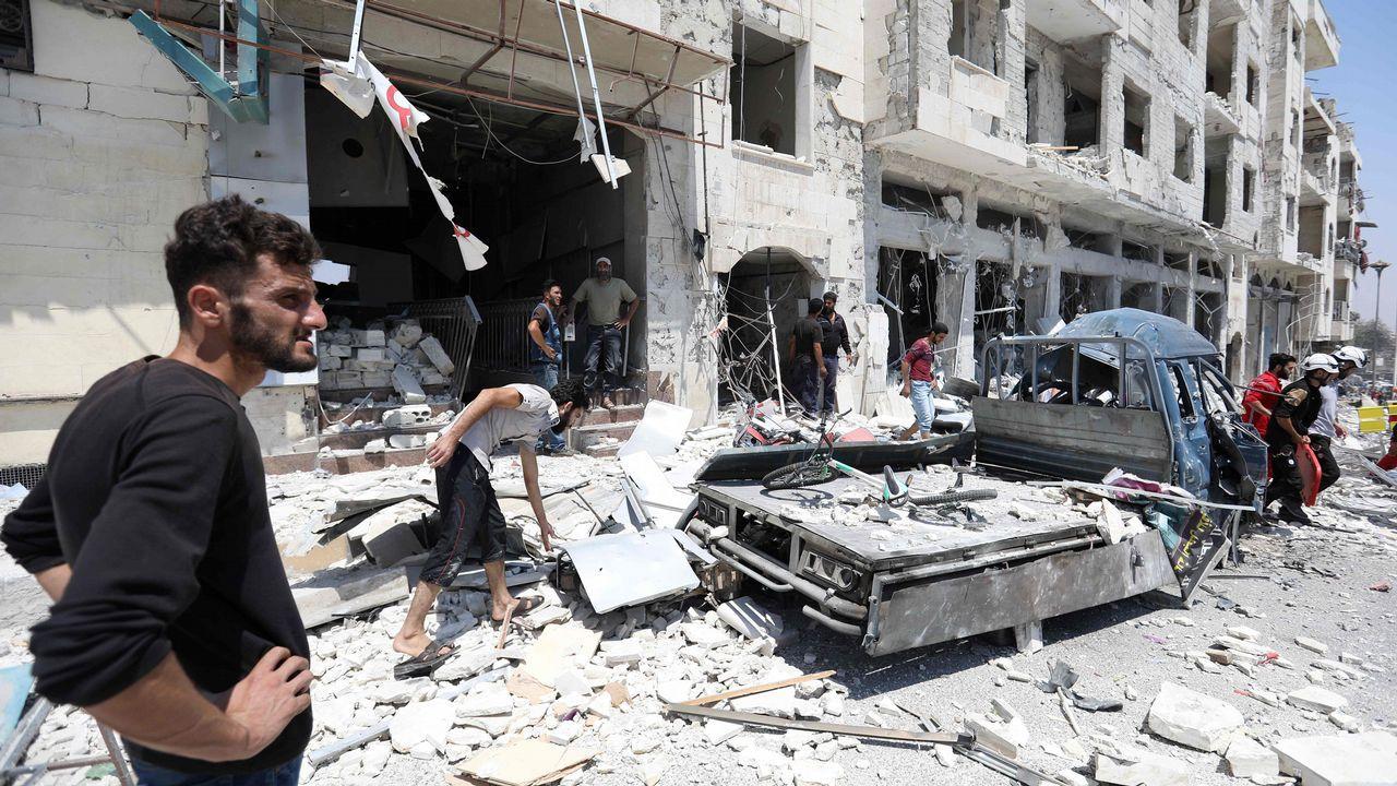 .Los vecinos de la destruida Idlib se preparan ya para el asalto de las tropas de Bachar al Asad, apoyadas por rusos e iraníes