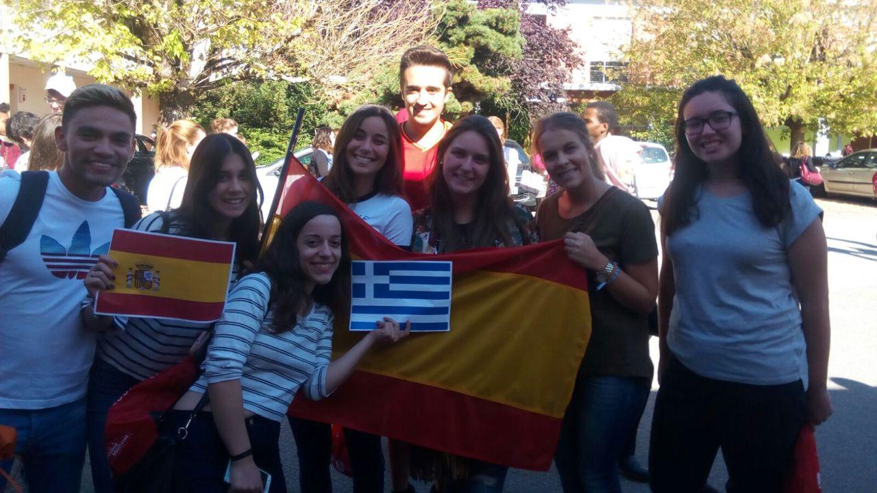 Imagen de archivo de unas oposiciones realizadas en Silleda.Estudiantes españoles en Limoges, Francia