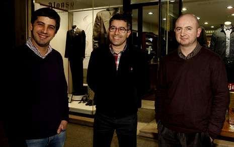 Carlos Pallas, Jorge Cambón y José Antonio Varela, tres de los impulsores de la iniciativa.