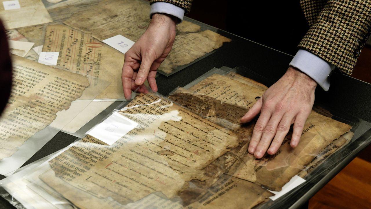 Algunos de los fragmentos del «Livro da Montaria» presentados en Madrid