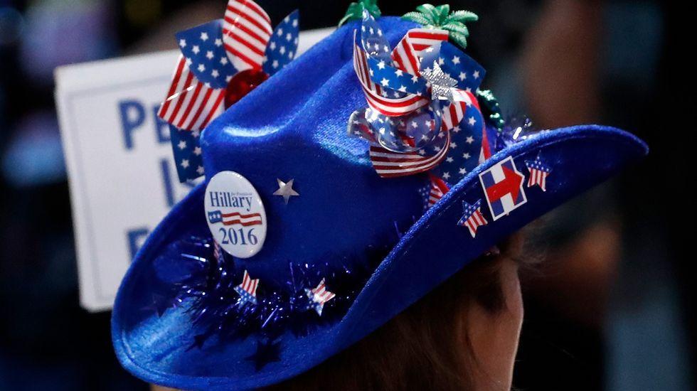 Convención demócrata enFiladelfia.