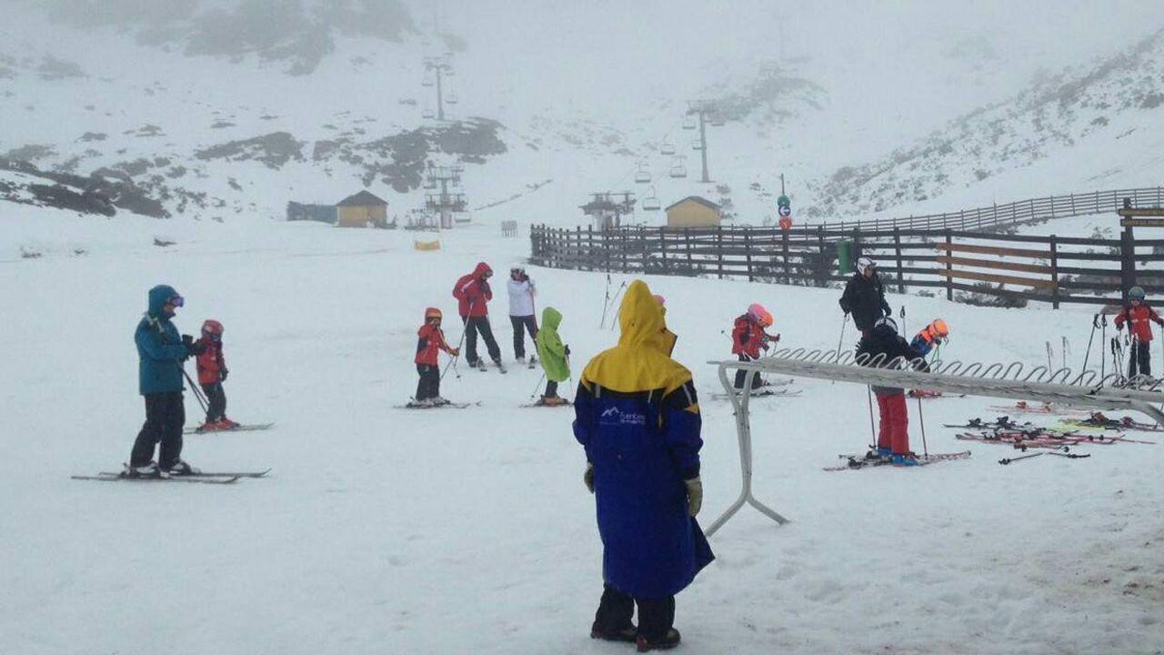Estación de esquí Fuentes de Invierno, esta mañana