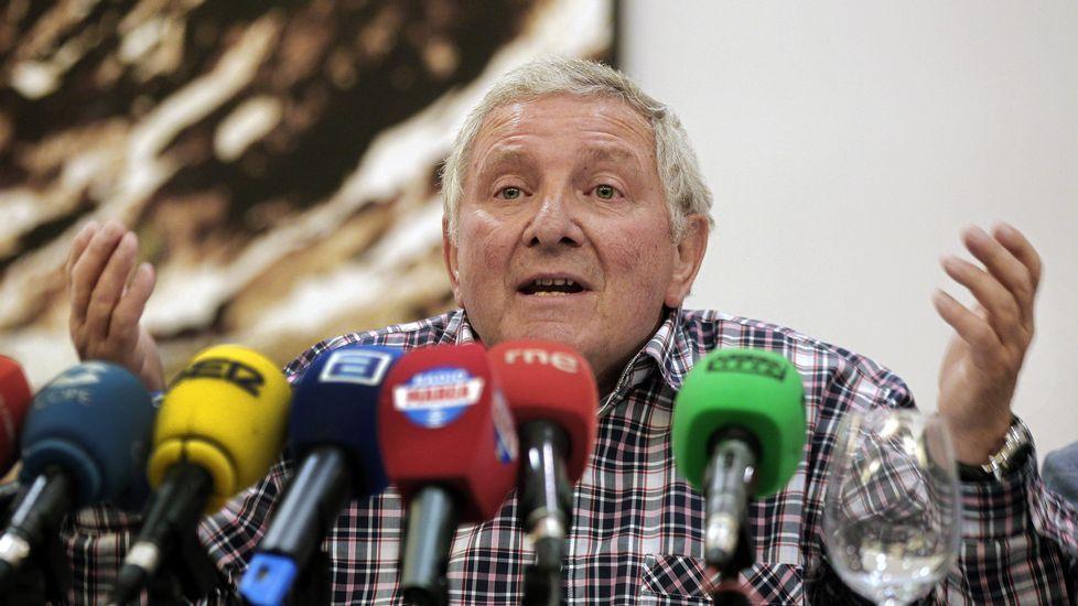 El presidente de la Real Federación de Fútbol del Principado de Asturias, Maximino Martínez Suárez