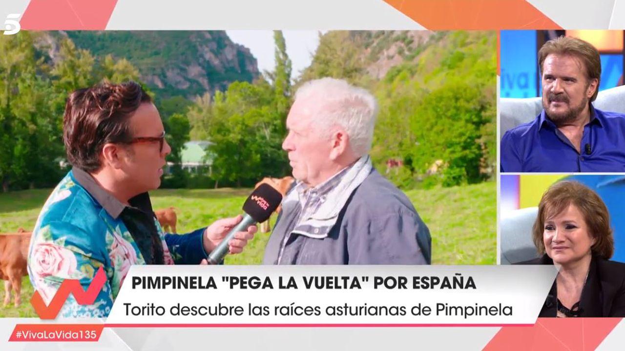 Torito en el pueblo de Pimpinela en el programa Viva la vida